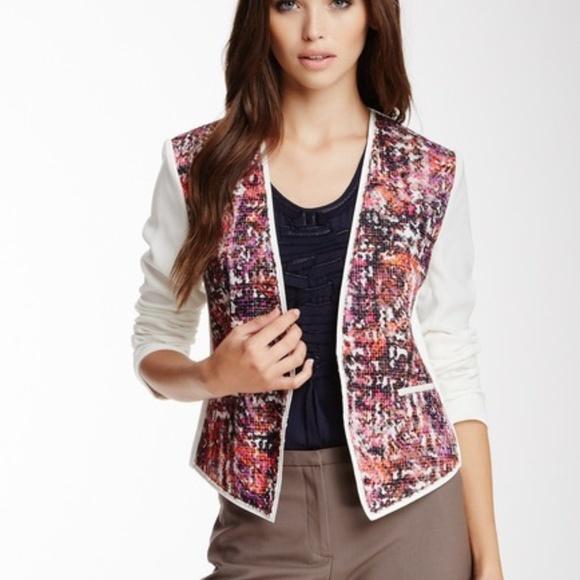 Elie Tahari Jackets & Blazers - Elie Tahari Faceted Fushia 'Monique' Jacket